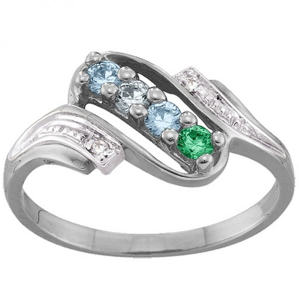 Diamond Accent 2-6 Stones Solid White Gold Ring