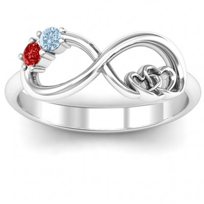 Double the Love Infinity Solid White Gold Ring