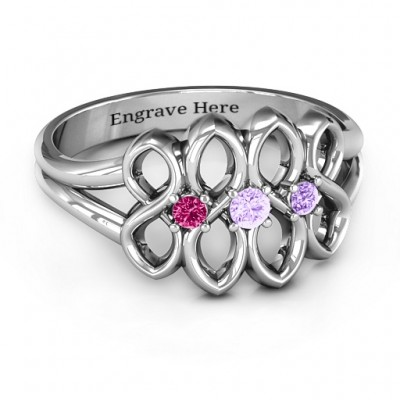 Echo of Love Infinity Solid White Gold Ring