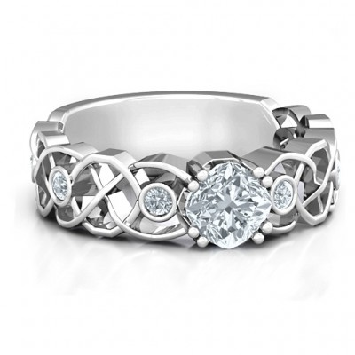 Elizabeth Solid White Gold Ring