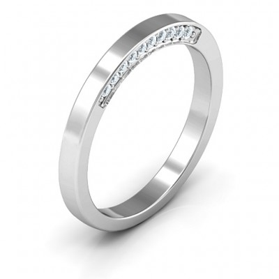 Enchanted Band Solid White Gold Ring