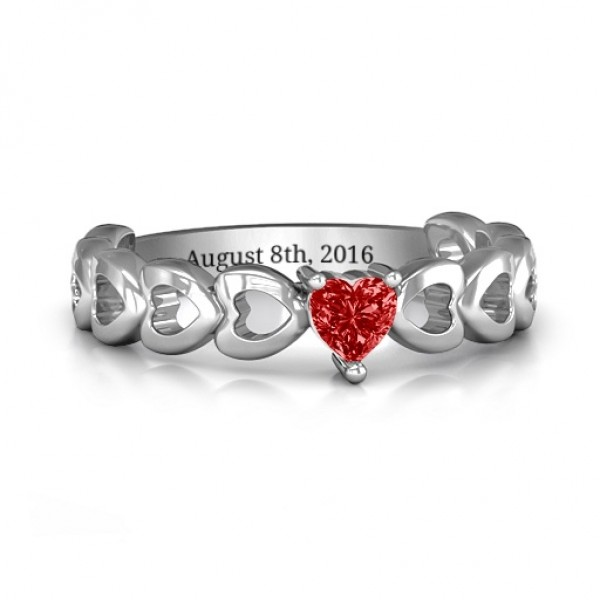 Enchanting Love Promise Solid White Gold Ring