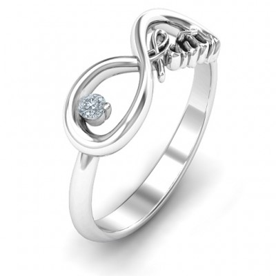 Faith Infinity Solid White Gold Ring