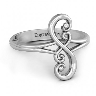 Flourish Infinity Solid White Gold Ring