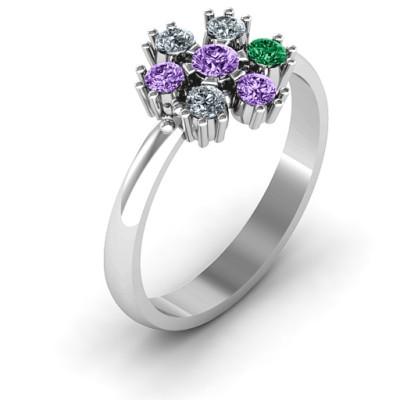 Flower Power Solid White Gold Ring