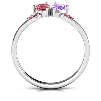 Follow Your Heart Solid White Gold Ring