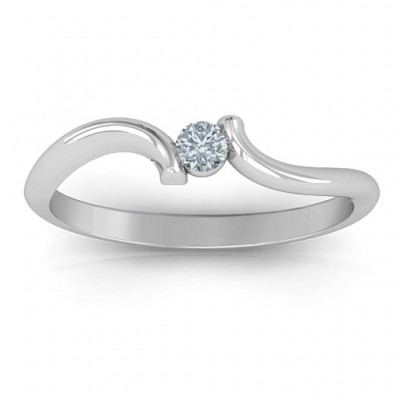 For Always Solid White Gold Ring