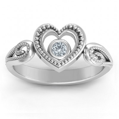 For My Love Solid White Gold Ring