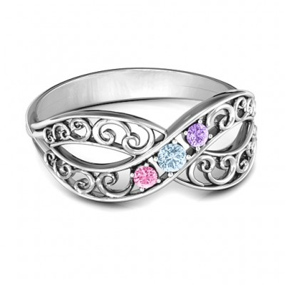 Forever Filigree Infinity Solid White Gold Ring