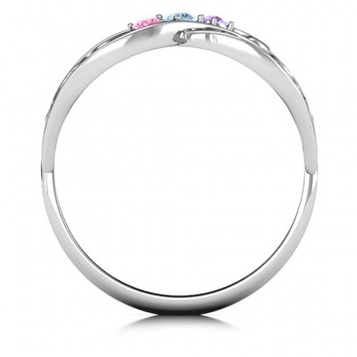 Forever Filigree Infinity Solid White Gold Ring