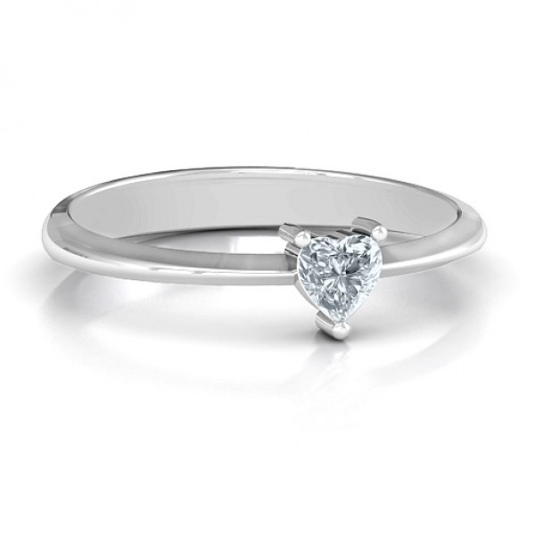 From the Heart Solid White Gold Ring