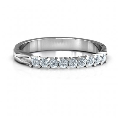 Glimmering Love Solid White Gold Ring