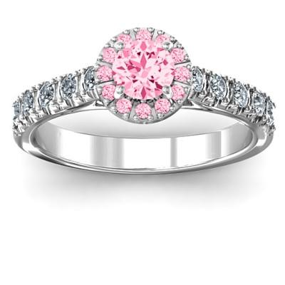 Graceful Shine Vintage Solid White Gold Ring