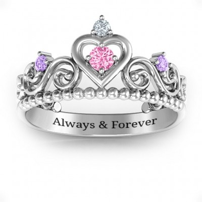 Happily Ever After Tiara Solid White Gold Ring
