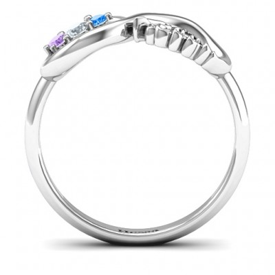Hessa Never Parted After Gemstone Solid White Gold Ring