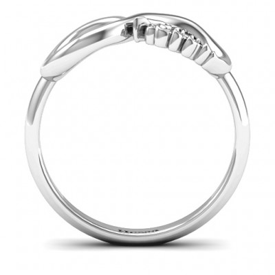 Hessa Never Parted After Infinity Solid White Gold Ring