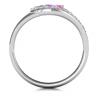 Illuminating Accents Solid White Gold Ring