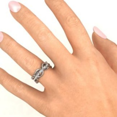 Imperative Love Infinity Solid White Gold Ring