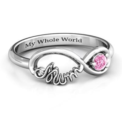 Infinite Bond Mum Solid White Gold Ring