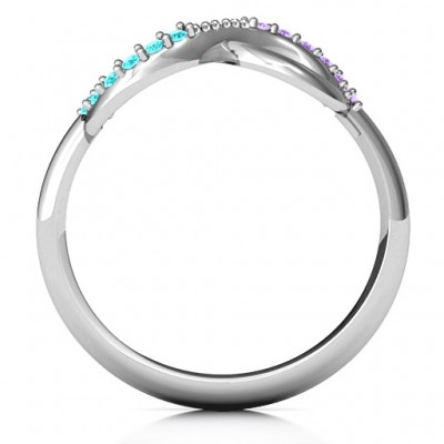 Infinity Accent Solid White Gold Ring