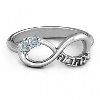 Infinity Ahava Solid White Gold Ring