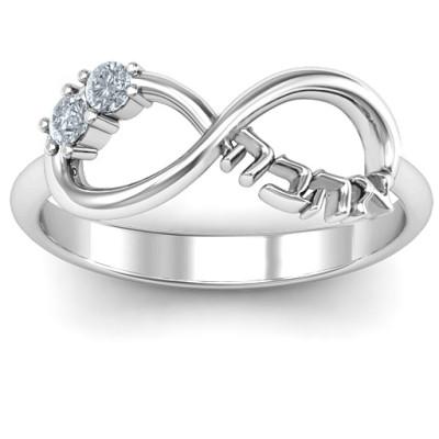 Infinity Ahava Solid White Gold Ring