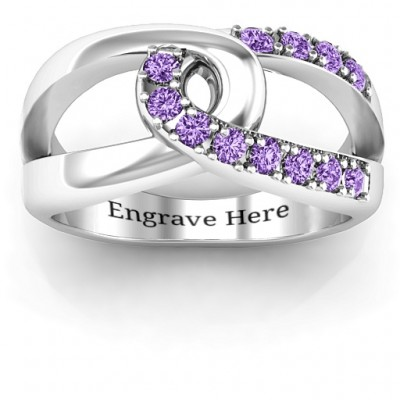 Infinity Embrace Solid White Gold Ring