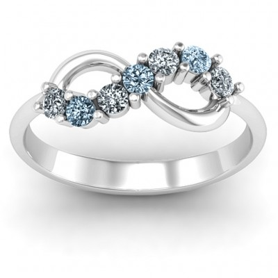 Infinity Solid White Gold Ring