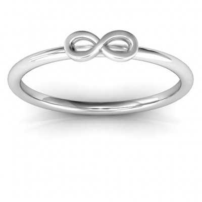 Infinity Stackr Solid White Gold Ring