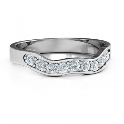 Jasmine Band Solid White Gold Ring
