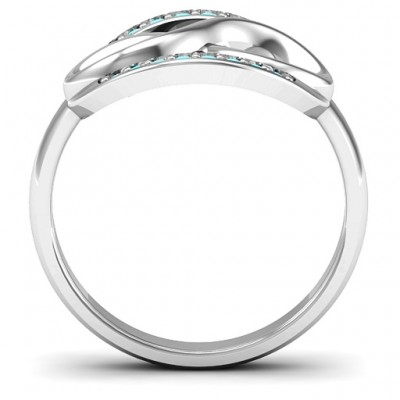 Karma of Love Infinity Solid White Gold Ring