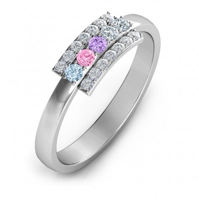 Layers Of Light Solid White Gold Ring