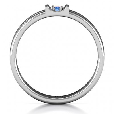 Layers Of Love Solid White Gold Ring