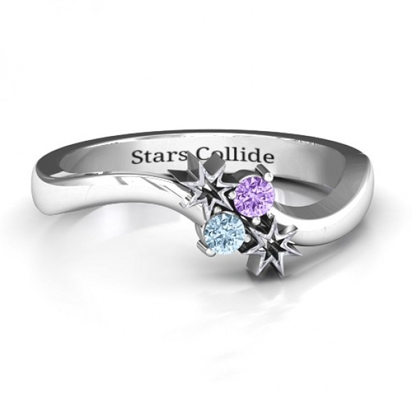 Light Up My Life Solid White Gold Ring
