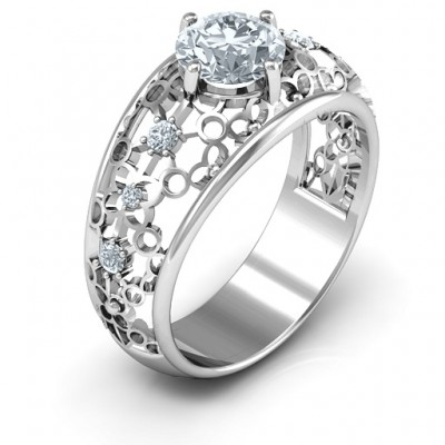 Looking at Love Solid White Gold Ring