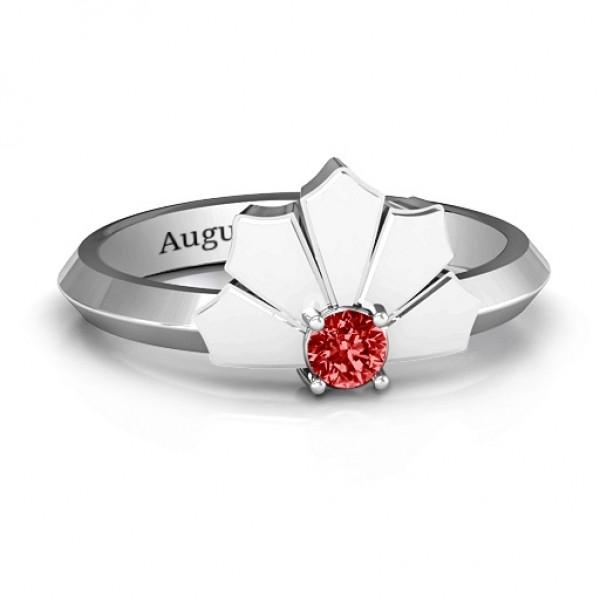 Lotus Of Love Solid White Gold Ring