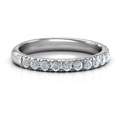 Love All Around Solid White Gold Ring