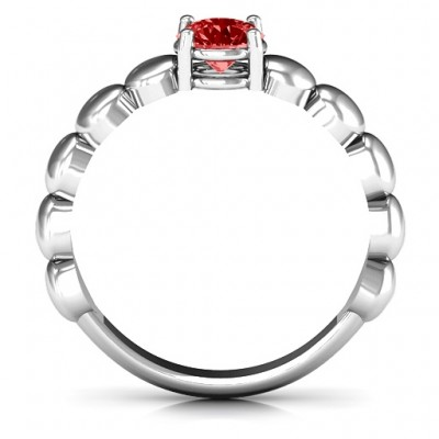 Love Story Promise Solid White Gold Ring