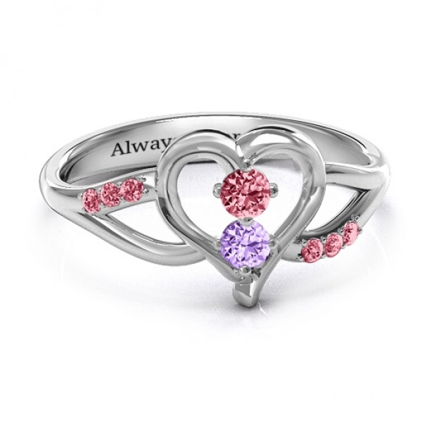 Magical Moments Two-Stone Solid White Gold Ring