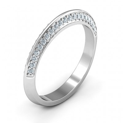 Malania Band Solid White Gold Ring