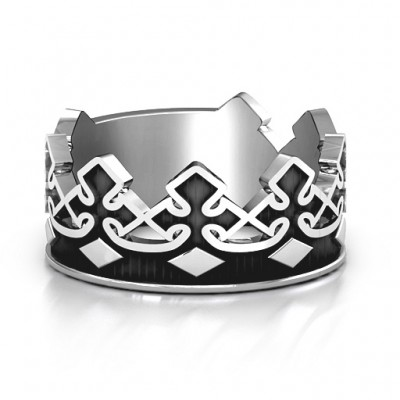 Solid Gold Men's Regal Crown Band