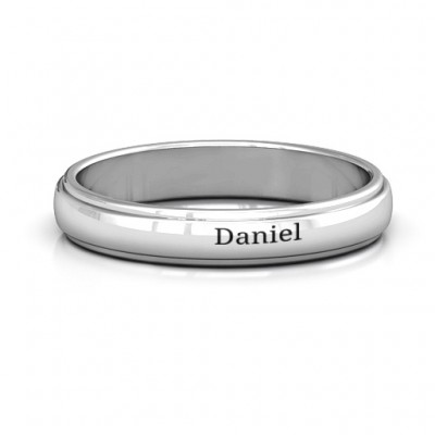 Menelaus Bevelled Women's Solid White Gold Ring
