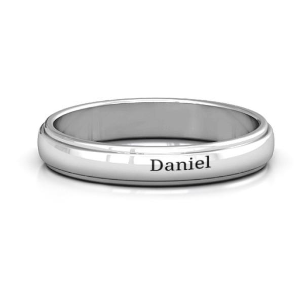 Menelaus Bevelled Women's Solid White Gold Ring