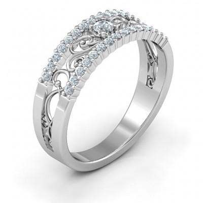 Mesmeric Love Solid White Gold Ring