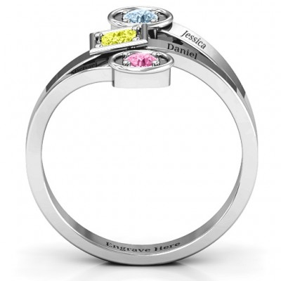 Modern Birthstone Solid White Gold Ring