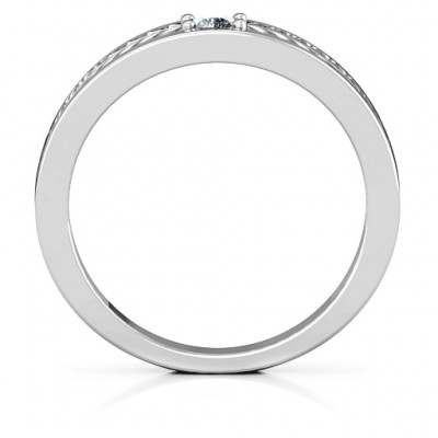 Modern Elegance Band Solid White Gold Ring