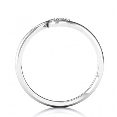 Modern Flair Solid White Gold Ring