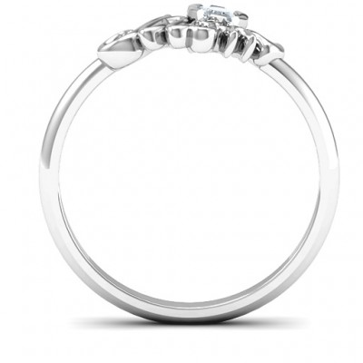 Mom's Reminder Solid White Gold Ring