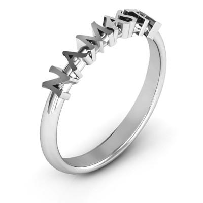 Namaste Solid White Gold Ring