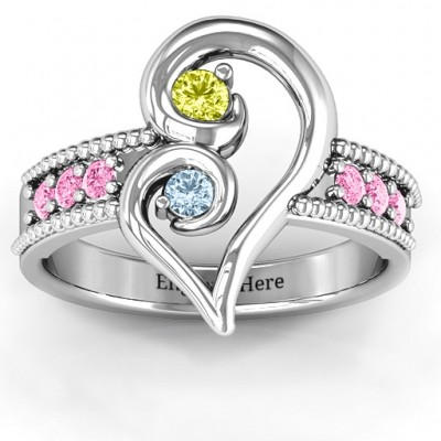 Nesting Love Solid White Gold Ring